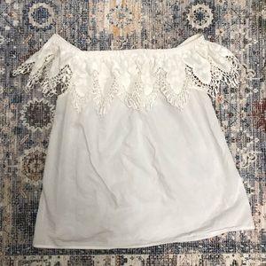 Merona Tops - MERONA crochet off shoulder blouse